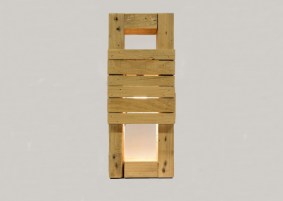 Lampe bois design #1