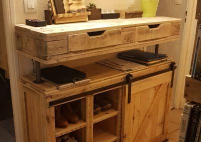 Console d'entrée et meuble à chaussures par Ambiance Palette (1)