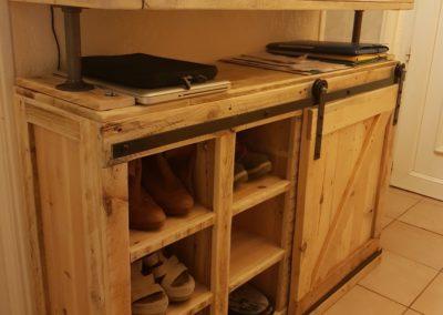 Console d'entrée et meuble à chaussures par Ambiance Palette (3)