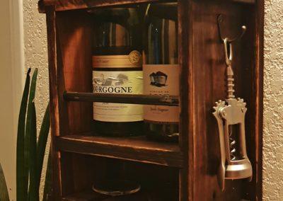 Cave à vin murale, etagere à bouteilles en bois par Ambiance Palette (1)