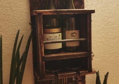 Cave à vin murale, etagere à bouteilles en bois par Ambiance Palette (5)
